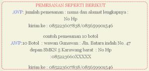 pesanan AWP2